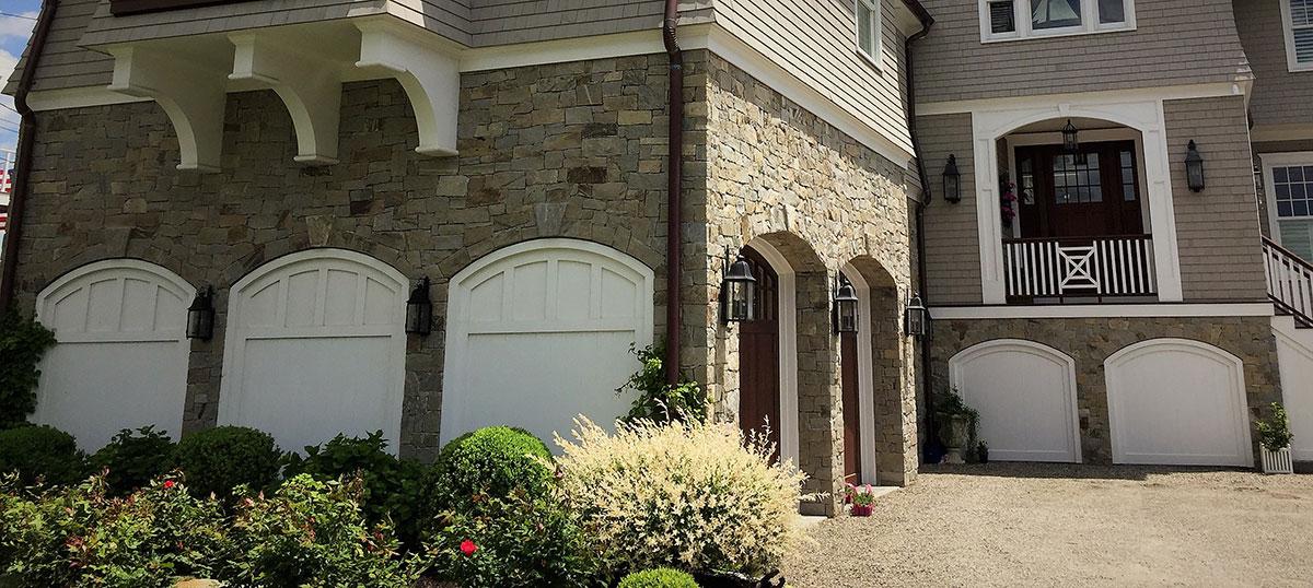 Stone garage