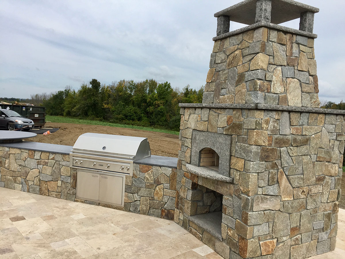 Stone outdoor oven