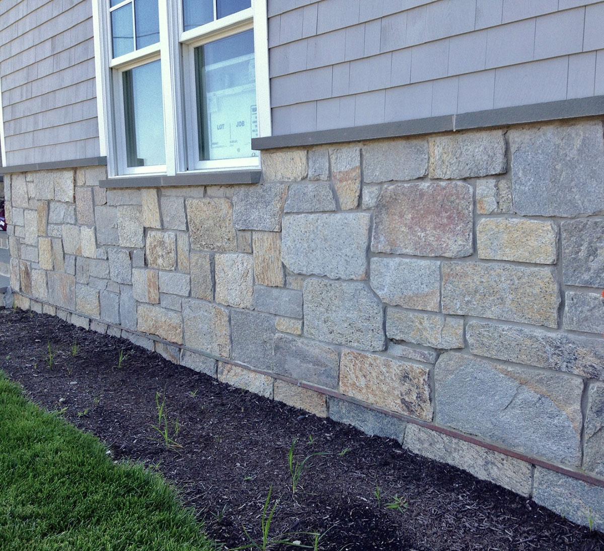 Stone half house
