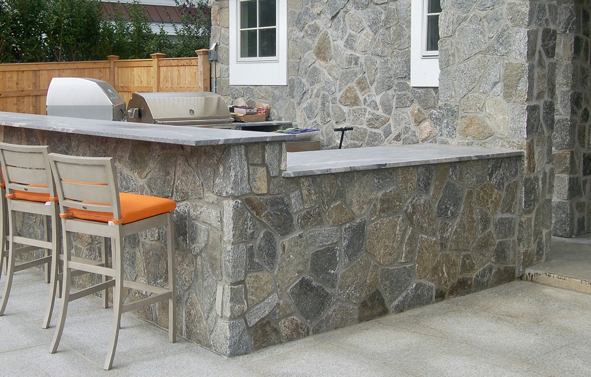 Stone grilling area