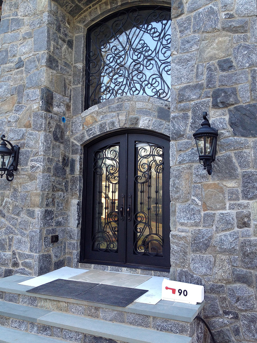 Stone home entryway