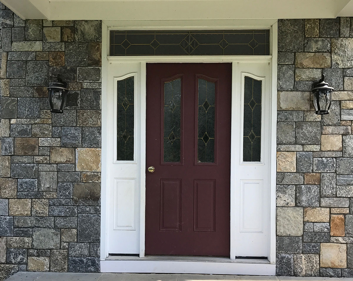 Stone home entry way