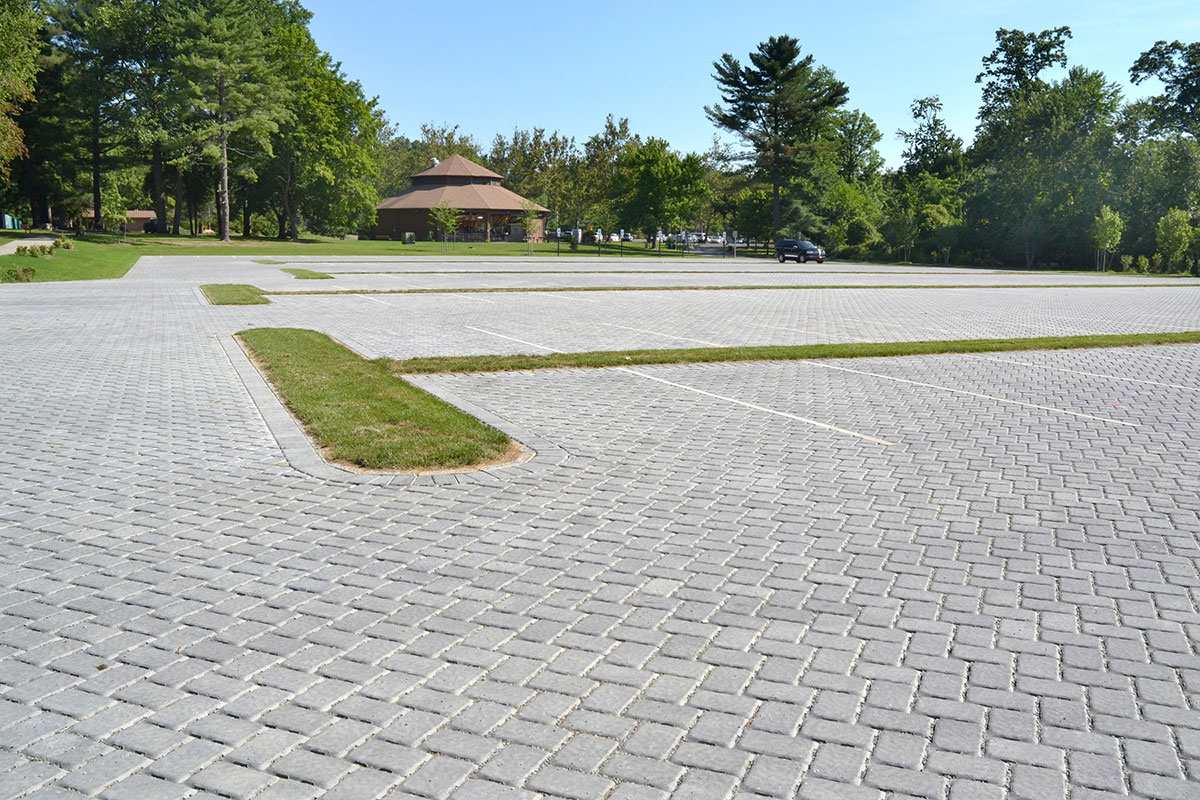 Parking lot made of stone