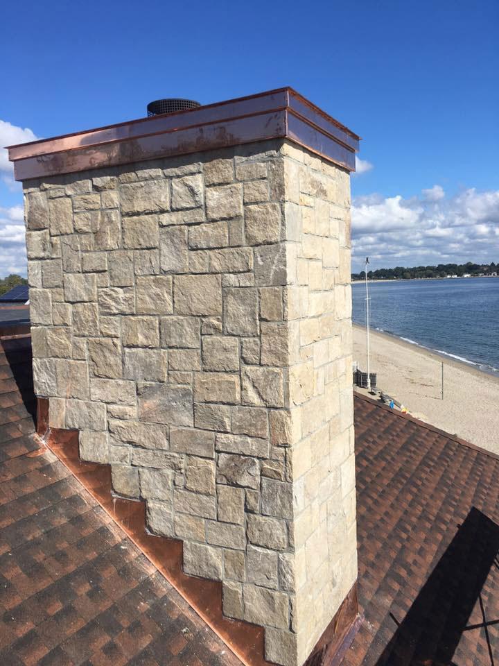 Stone chimney