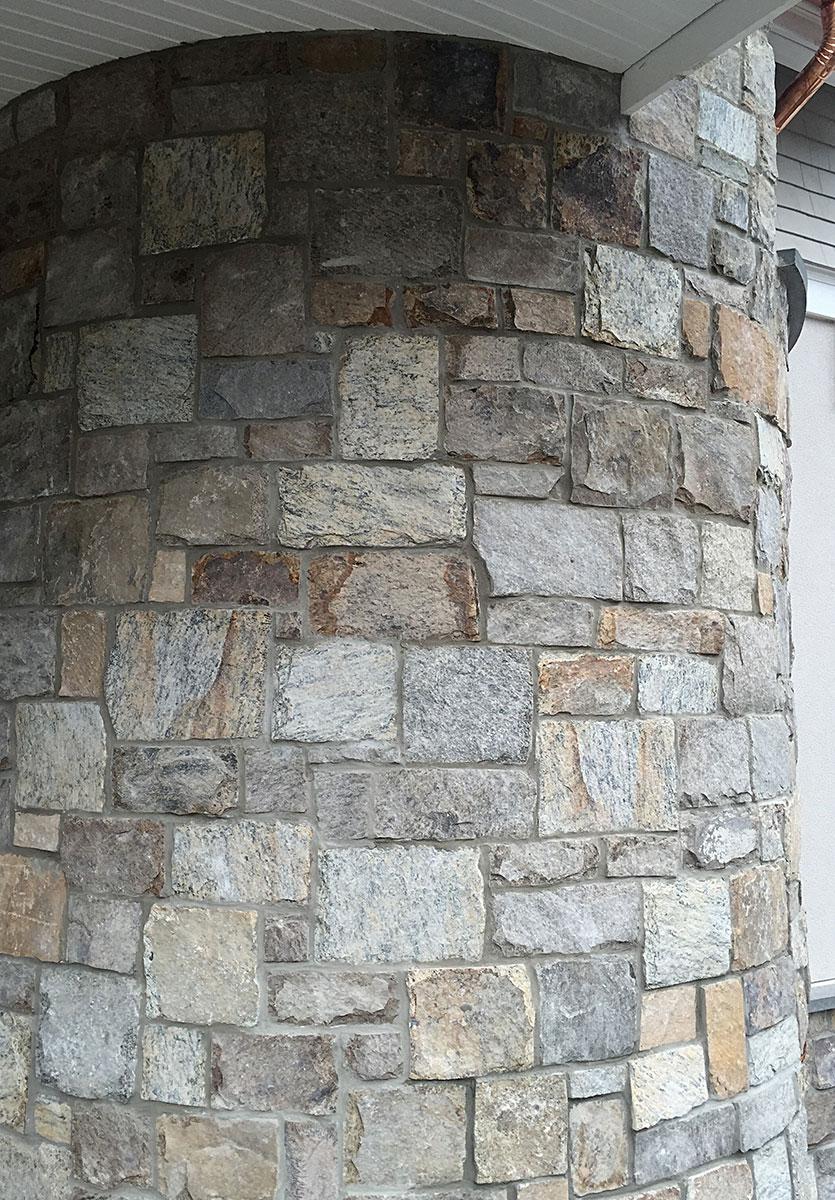 Exterior stone pillar