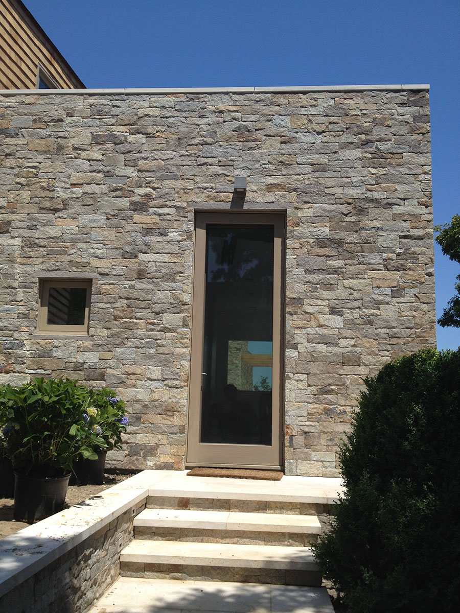Exterior stone home