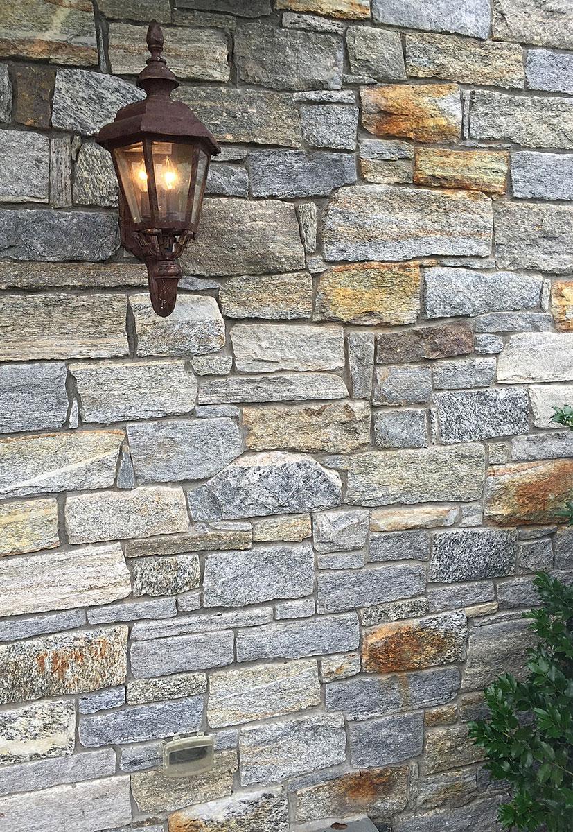 Stone exterior wall