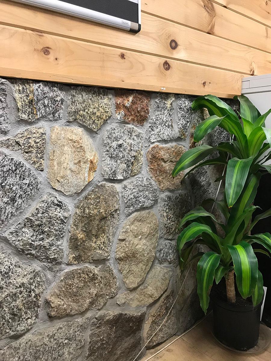 Stone interior wall