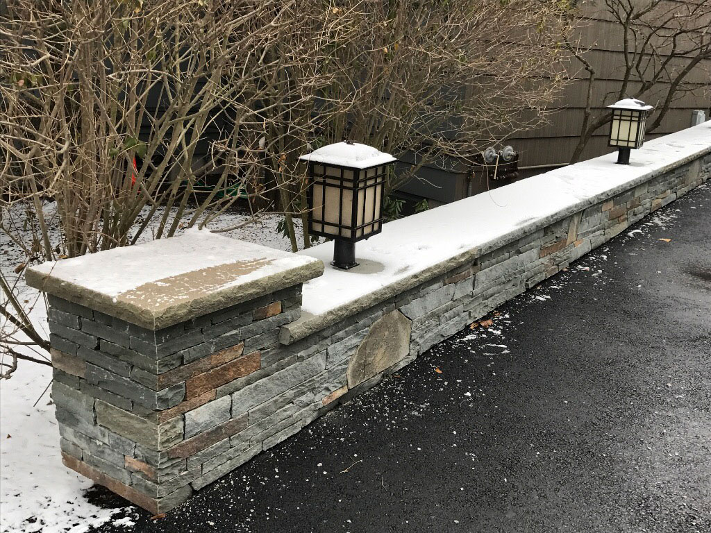 Stone half wall