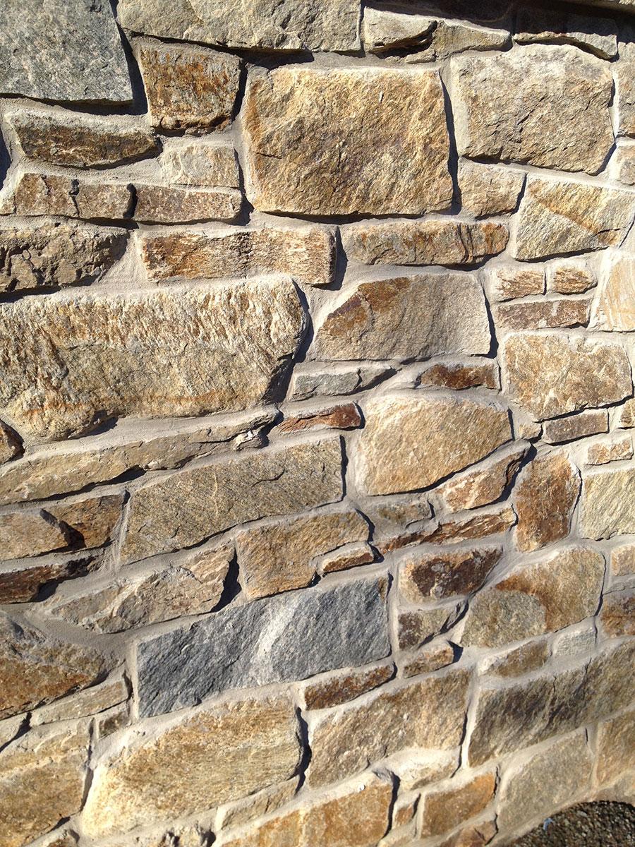 Exterior stone wall