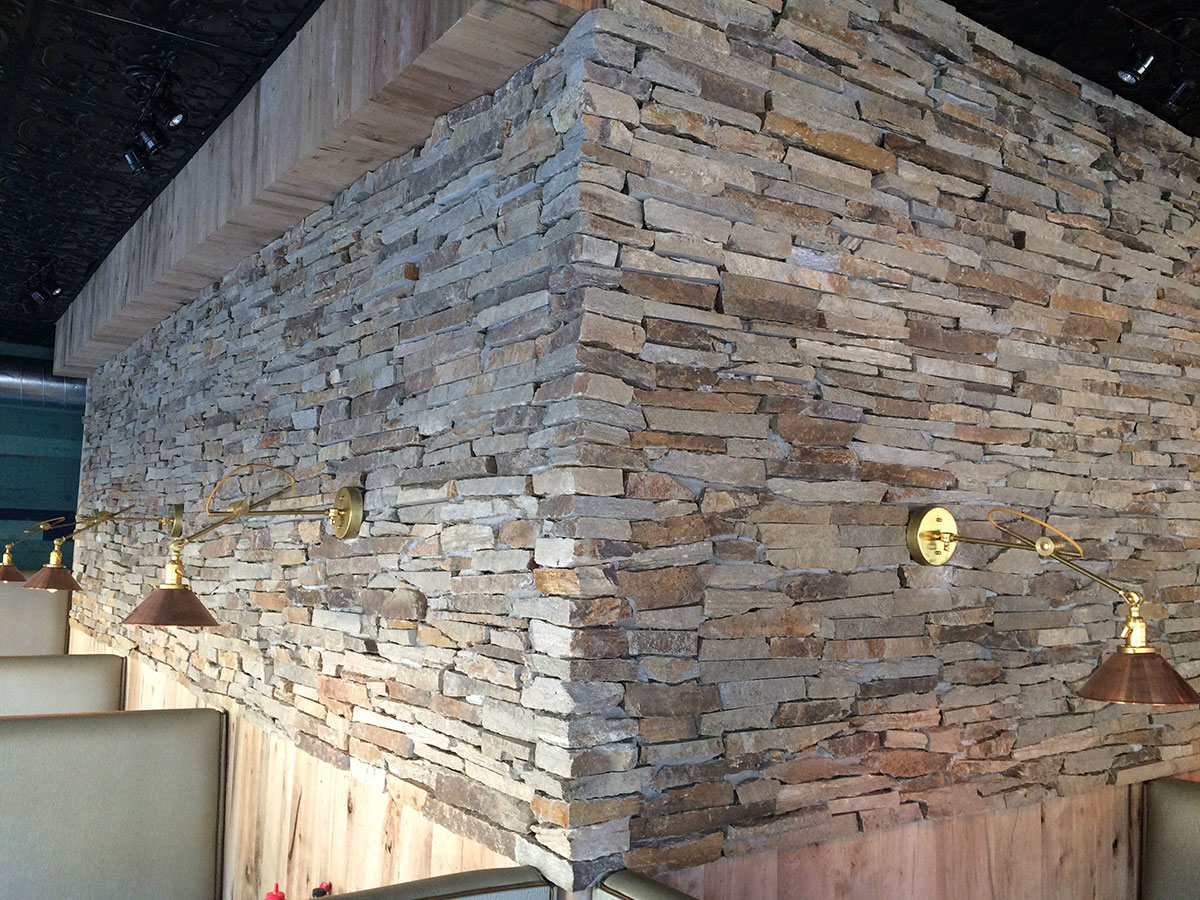 stone interior restaurant wall