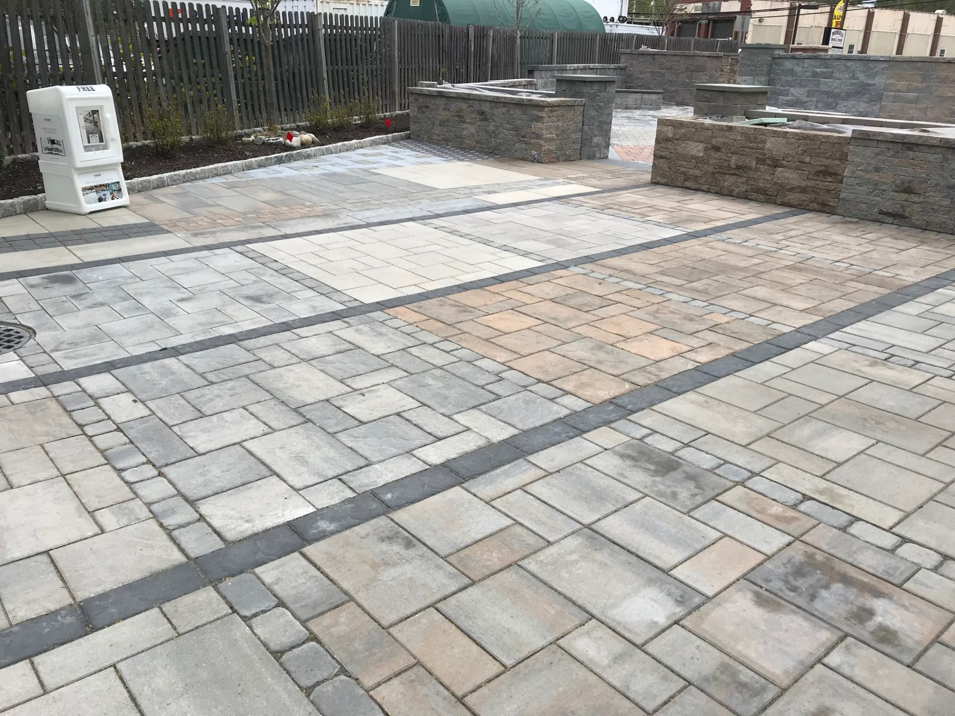 techo paver display