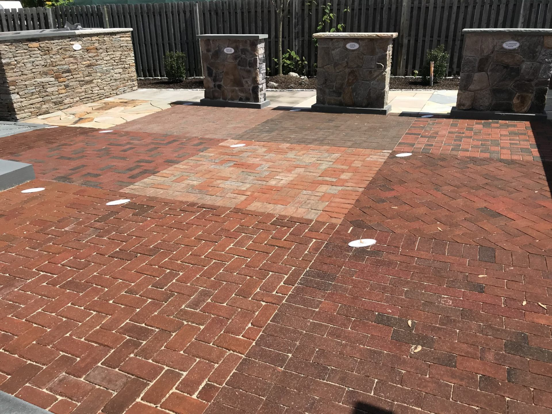 brick paver display area